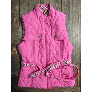 Lilly Pulitzer Quilted Reversible Mikaela Vest M
